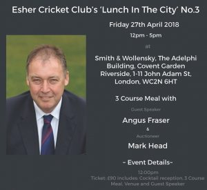 Esher CC Lunch In The City @ Smith & Wollensky | England | United Kingdom